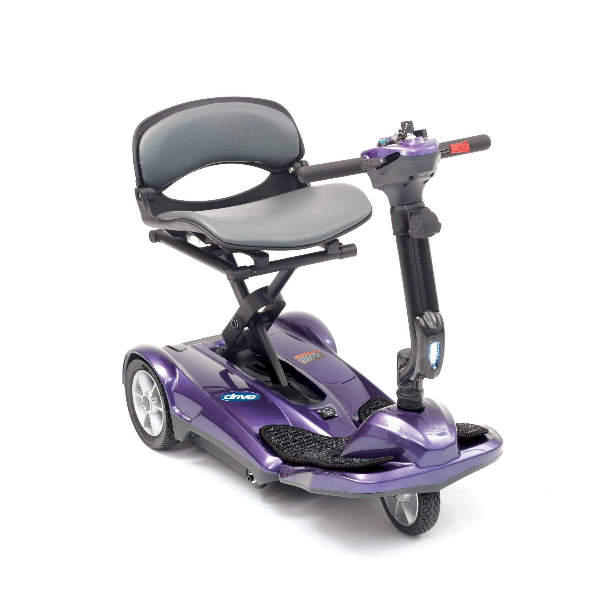 folding mobility scooter purple