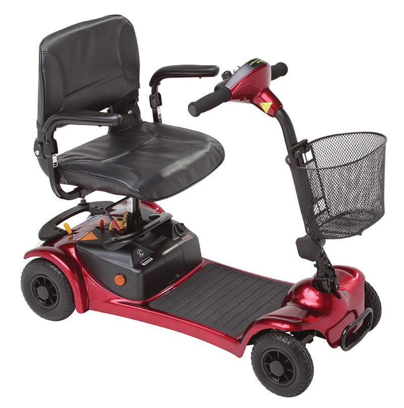 red mobility scooter