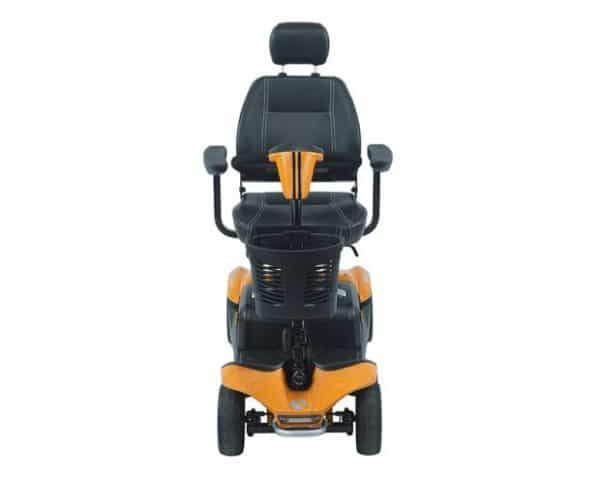 orange and black mobility scooter
